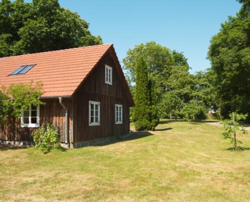 Das Gärtnerhaus im Schlosspark der Gutsanlage in Zinzow.